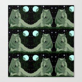 Wolf Vector Animals Canvas Print