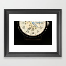 vintage time Framed Art Print