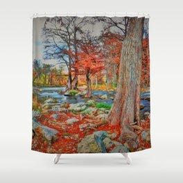 Texas Hill Country Autumn Shower Curtain