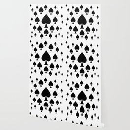 LOTS OF DECORATIVE BLACK SPADES CASINO ART Wallpaper