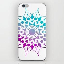 Mandala #2 (Purple Pink Turquiose) iPhone Skin