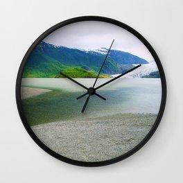 Mendenhall Glacier Lake Alaska Wall Clock