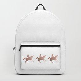 Rose gold unicorn Backpack