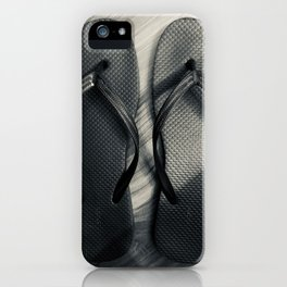 noir flip flops iPhone Case
