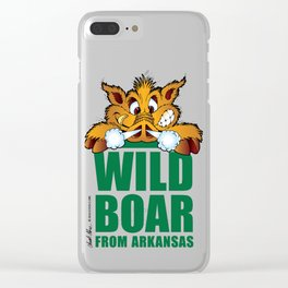 Wild Boar from Arkansas! Clear iPhone Case