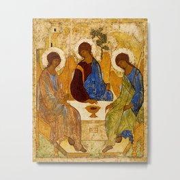 Trinity Angels of God Icon Metal Print