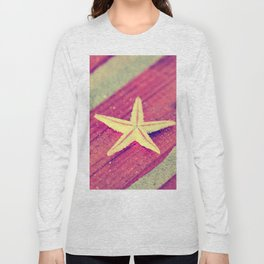 Stars and Stripes on the beach Long Sleeve T-shirt