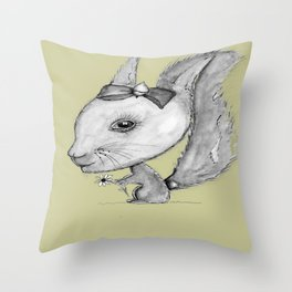 NORDIC ANIMAL  - SUZY THE SQUIRREL  / ORIGINAL DANISH DESIGN bykazandholly Throw Pillow