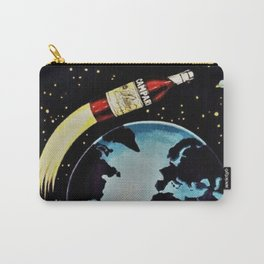 Vintage 1963 Rocket Bottle & Planet Bitter Campari Advertisement Carry-All Pouch