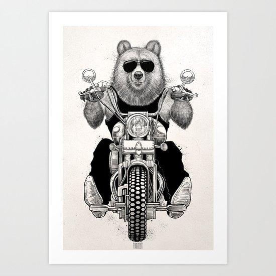 carefree bear Art Print