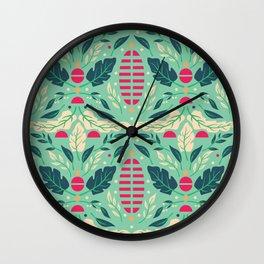 Vintage Floral Pattern 004 Wall Clock