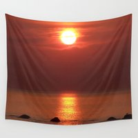 halo Wall Tapestries featuring Halo Sunset Glow by DanByTheSea