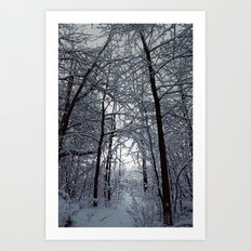 Riders on the Snow. Art Print