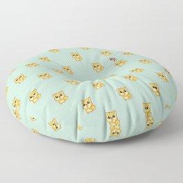 Hachikō, the legendary dog pattern (Green) Floor Pillow