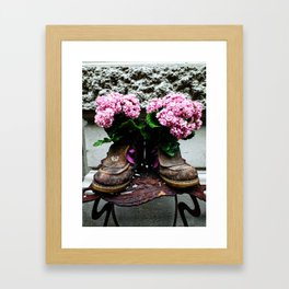 These Boots Are Made For Flowers Framed Art Print