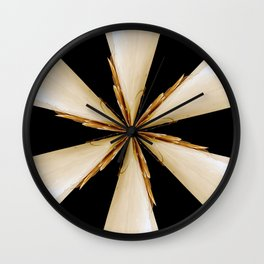 Black, White and Gold Star Wall Clock
