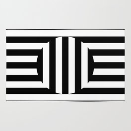 Black and white stribes Vol. 1 Rug