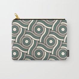 Circle Swirl Pattern Ever Classic Gray 32-24 Thistle Green 22-18 and Dover White 33-6 Carry-All Pouch