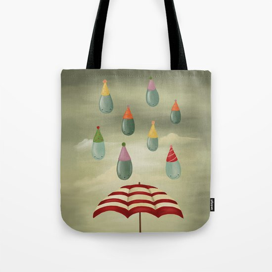 Rain Party Tote Bag