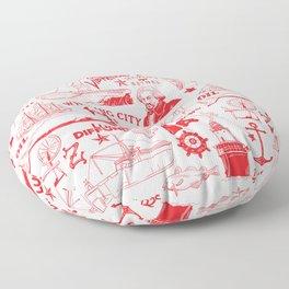 New Bedford Massachusetts Floor Pillow