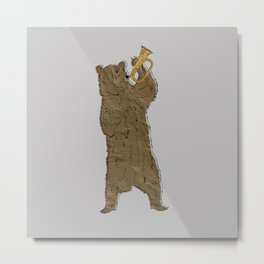 Bear and Bugle Metal Print