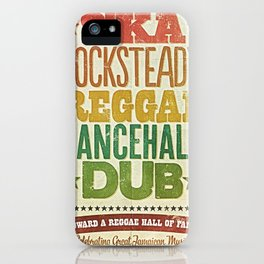 Shades of Reggae iPhone Case