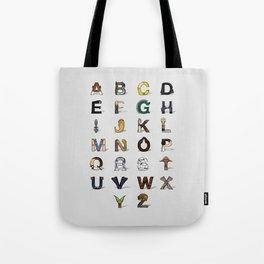 Star W. alphabet Tote Bag