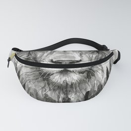 Lion Courage Motivational Quote Watercolor Painting Fanny Pack