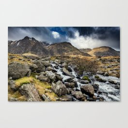 Glyderau Mountain Winter Canvas Print