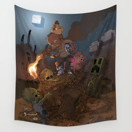Night outside the Mine Wall Tapestry