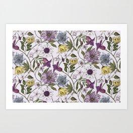 colorful floral pattern I Art Print