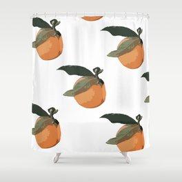 orange you glad Shower Curtain