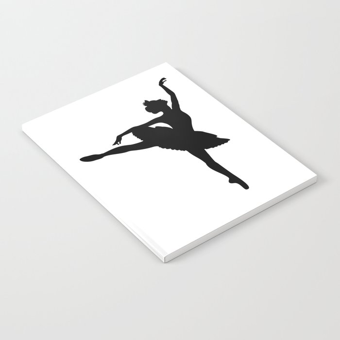 Ballerina silhouette (black) Notebook