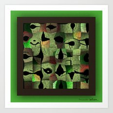 The puzzle Art Print