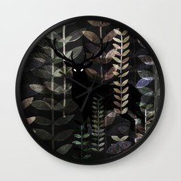 glass forest Wall Clock