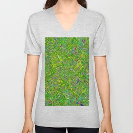Abstract RR QQY Unisex V-Neck