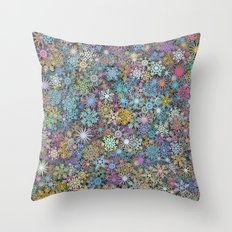 Snowflakes multicolor Throw Pillow