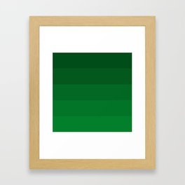Rich Forest Evergreen Stripes Ombre Framed Art Print