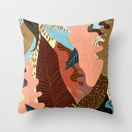 Earthy Forest Throw Pillow
