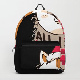 All I Want For Christmas Is Meow Backpack