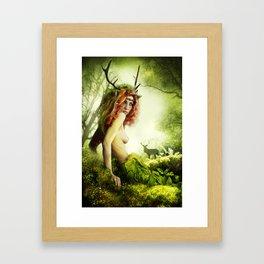 Deer Woman Framed Art Print