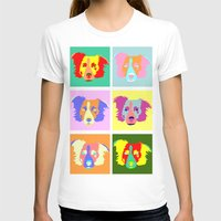 border collie T-shirts featuring Border Collie Pop Art by Pound Designs