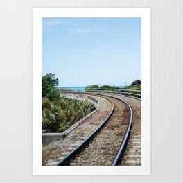Off the Rails Art Print