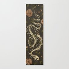 Snake Skeleton Canvas Print