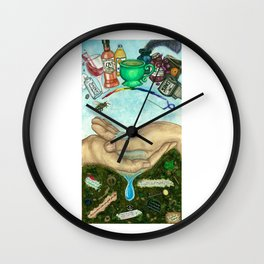 Ten of Cups (Amanda Palmer tarot deck) Wall Clock