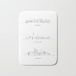Pittsburgh, New York City, Philadelphia Bath Mat