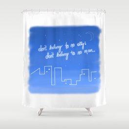 Hurricane Lyrics Shower Curtain