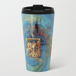 Of the Earth 4 by Nadia J Art Travel Mug