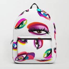 Rainbow Eyes Everywhere Backpack