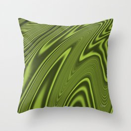 Abstract Fractal Colorways 03 Malalchite Lime Green Throw Pillow